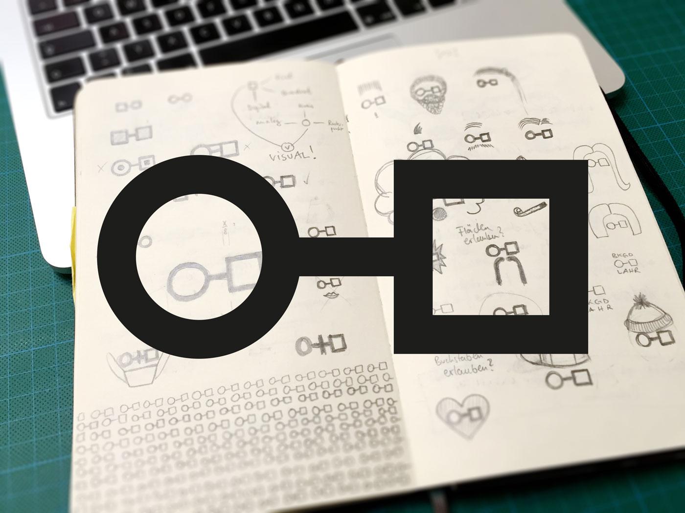 Berufskolleg Grafik-Design Entwicklung Skizze