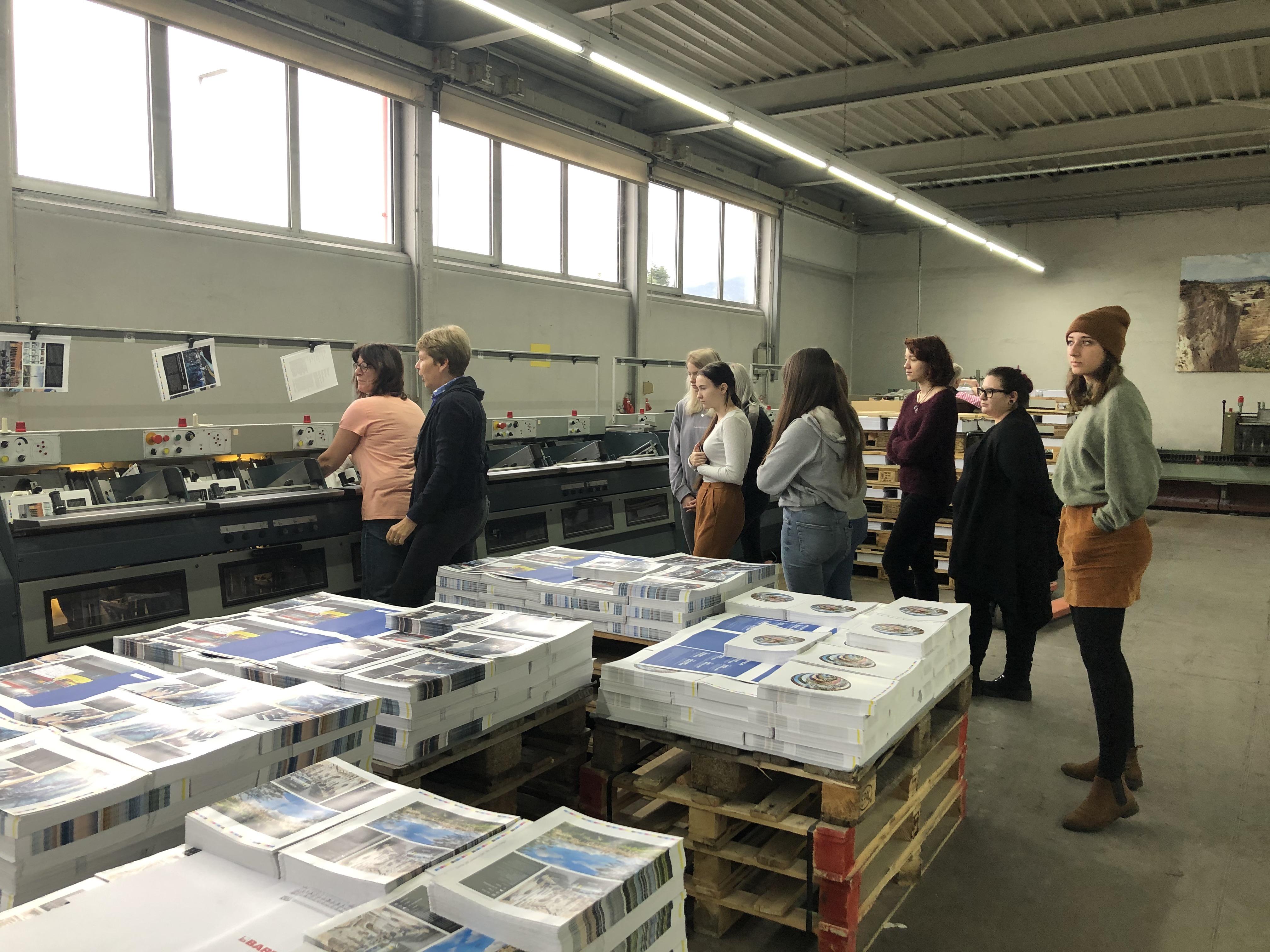 Exkursion Buchbinderei Spinner 2019 Betriebsführung 2