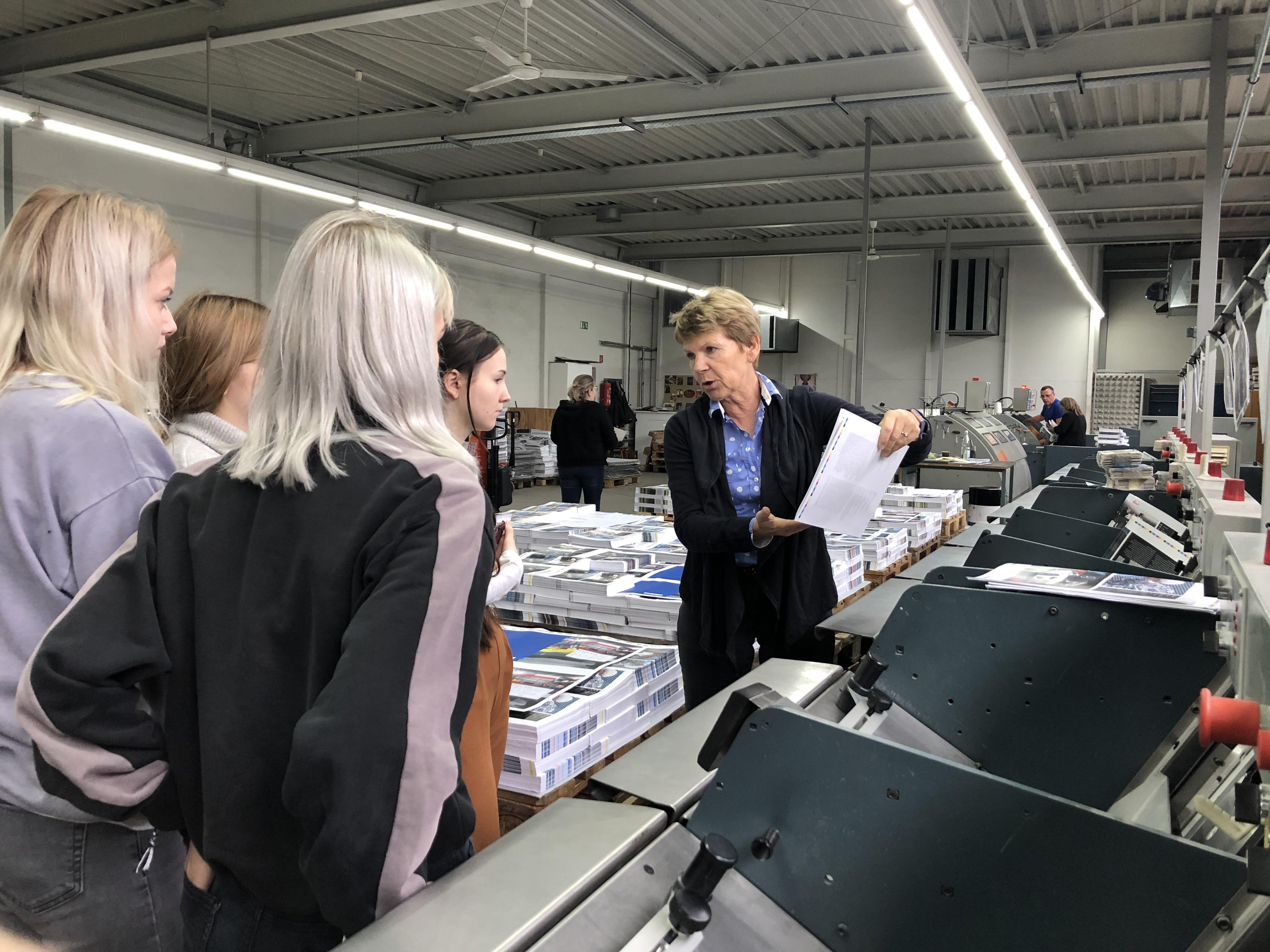 Exkursion Buchbinderei Spinner 2019 Betriebsführung